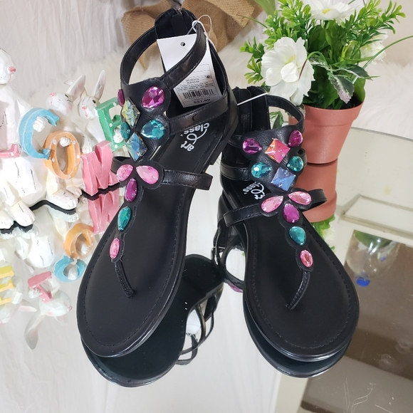 Target Girls Thong Sandals with Silver Jewel Embellishment
